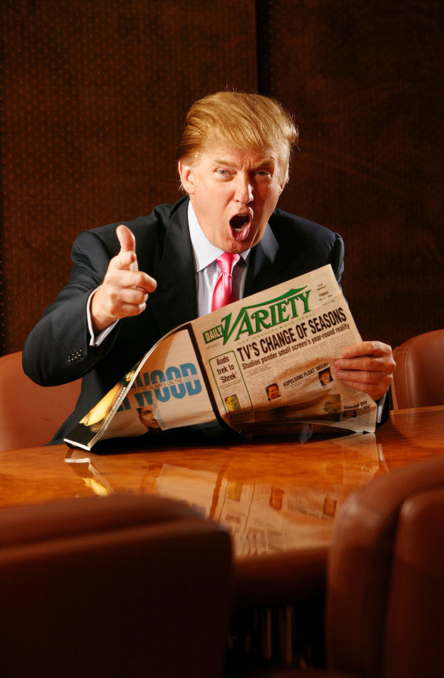 NEW YORK - JUNE 17: Donald Trump photographed in his boardroom at Trump Tower on 5th Avenue June 17, 2004 in New York City. (Photo by Scott Gries/Getty Images)